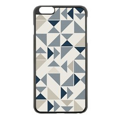 Geometric Triangle Modern Mosaic Apple Iphone 6 Plus/6s Plus Black Enamel Case