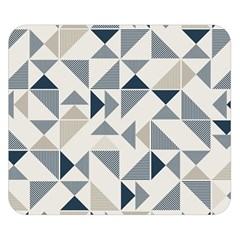 Geometric Triangle Modern Mosaic Double Sided Flano Blanket (small)