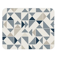 Geometric Triangle Modern Mosaic Double Sided Flano Blanket (large)