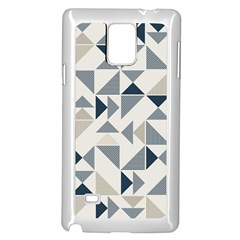 Geometric Triangle Modern Mosaic Samsung Galaxy Note 4 Case (white)