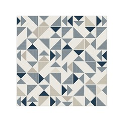 Geometric Triangle Modern Mosaic Small Satin Scarf (square)