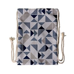 Geometric Triangle Modern Mosaic Drawstring Bag (small)