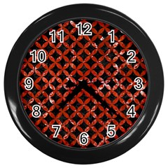 Circles3 Black Marble & Red Marble Wall Clock (black)