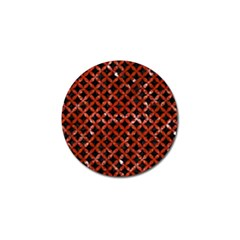 Circles3 Black Marble & Red Marble Golf Ball Marker (4 Pack)