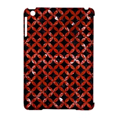 Circles3 Black Marble & Red Marble Apple Ipad Mini Hardshell Case (compatible With Smart Cover)