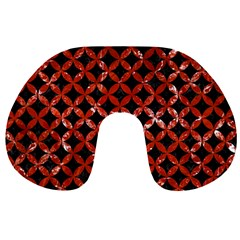 Circles3 Black Marble & Red Marble Travel Neck Pillow