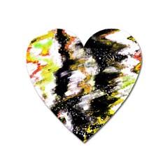 Canvas Acrylic Digital Design Art Heart Magnet