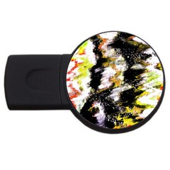 Canvas Acrylic Digital Design Art Usb Flash Drive Round (2 Gb)