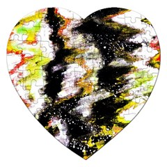 Canvas Acrylic Digital Design Art Jigsaw Puzzle (Heart)