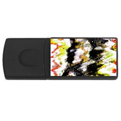 Canvas Acrylic Digital Design Art Usb Flash Drive Rectangular (4 Gb)