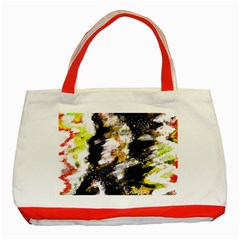 Canvas Acrylic Digital Design Art Classic Tote Bag (red)