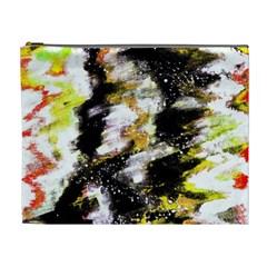 Canvas Acrylic Digital Design Art Cosmetic Bag (xl)