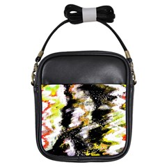 Canvas Acrylic Digital Design Art Girls Sling Bags