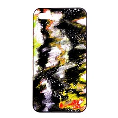 Canvas Acrylic Digital Design Art Apple Iphone 4/4s Seamless Case (black)