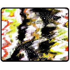 Canvas Acrylic Digital Design Art Double Sided Fleece Blanket (medium)
