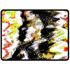 Canvas Acrylic Digital Design Art Double Sided Fleece Blanket (large)