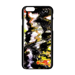 Canvas Acrylic Digital Design Art Apple Iphone 6/6s Black Enamel Case