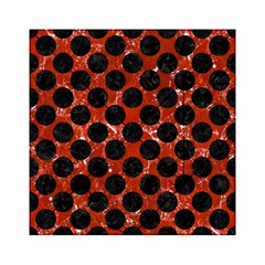 Circles2 Black Marble & Red Marble (r) Acrylic Tangram Puzzle (6  X 6 )