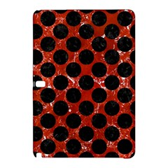 Circles2 Black Marble & Red Marble (r) Samsung Galaxy Tab Pro 10 1 Hardshell Case