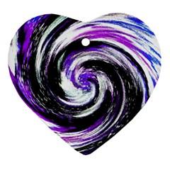 Canvas Acrylic Digital Design Heart Ornament (2 Sides)