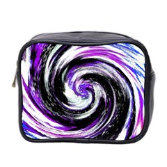 Canvas Acrylic Digital Design Mini Toiletries Bag 2 Side