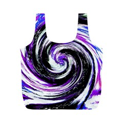 Canvas Acrylic Digital Design Full Print Recycle Bags (m)