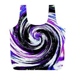 Canvas Acrylic Digital Design Full Print Recycle Bags (l)