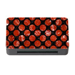 Circles2 Black Marble & Red Marble Memory Card Reader With Cf