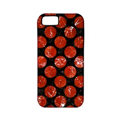Circles2 Black Marble & Red Marble Apple Iphone 5 Classic Hardshell Case (pc+silicone)