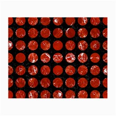 Circles1 Black Marble & Red Marble Small Glasses Cloth (2 Sides)