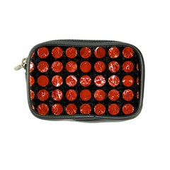 Circles1 Black Marble & Red Marble Coin Purse
