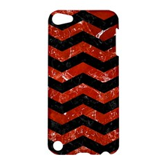 Chevron3 Black Marble & Red Marble Apple Ipod Touch 5 Hardshell Case