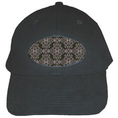 Line Geometry Pattern Geometric Black Cap