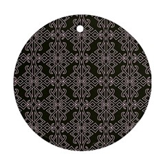 Line Geometry Pattern Geometric Ornament (round)