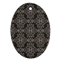 Line Geometry Pattern Geometric Ornament (oval)