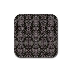 Line Geometry Pattern Geometric Rubber Square Coaster (4 Pack)
