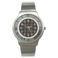 Line Geometry Pattern Geometric Stainless Steel Watch