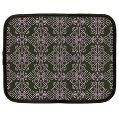 Line Geometry Pattern Geometric Netbook Case (large)