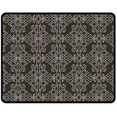 Line Geometry Pattern Geometric Fleece Blanket (medium)