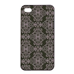 Line Geometry Pattern Geometric Apple Iphone 4/4s Seamless Case (black)