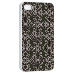 Line Geometry Pattern Geometric Apple Iphone 4/4s Seamless Case (white)