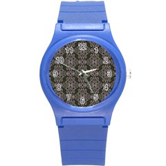 Line Geometry Pattern Geometric Round Plastic Sport Watch (s)