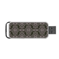 Line Geometry Pattern Geometric Portable Usb Flash (one Side)