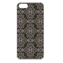 Line Geometry Pattern Geometric Apple Iphone 5 Seamless Case (white)