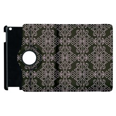 Line Geometry Pattern Geometric Apple Ipad 3/4 Flip 360 Case