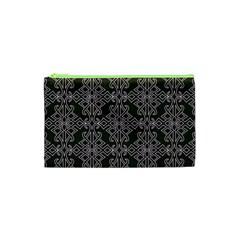 Line Geometry Pattern Geometric Cosmetic Bag (xs)