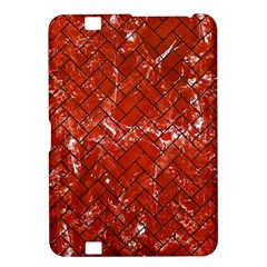 Brick2 Black Marble & Red Marble (r) Kindle Fire Hd 8 9  Hardshell Case