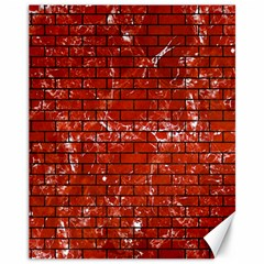 Brick1 Black Marble & Red Marble (r) Canvas 11  X 14