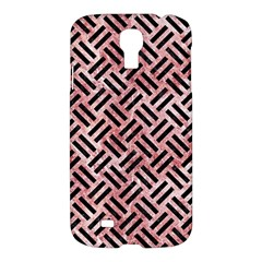 Woven2 Black Marble & Red & White Marble (r) Samsung Galaxy S4 I9500/i9505 Hardshell Case