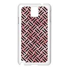 Woven2 Black Marble & Red & White Marble (r) Samsung Galaxy Note 3 N9005 Case (white)